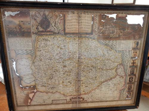 Antique map restoration