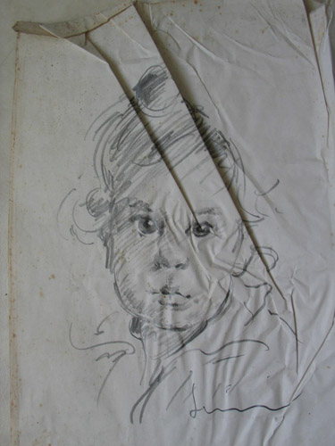 Pencil drawing conservation